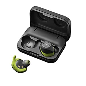 Jabra Elite Sport True Wireless Stereo in-Ear Sport-Kopfhörer (Bluetooth, 4,5 Std Akkulaufzeit, In Ear Herzfrequenzmessung und Bewegungssensor) grau/lime