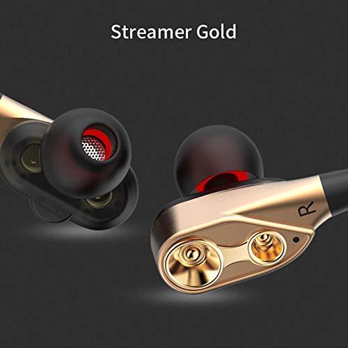 Wired CK8 Dual Driver Kopfh?rer Dual-Dynamischer, Flexibler Kabellautsprecher - Gold -