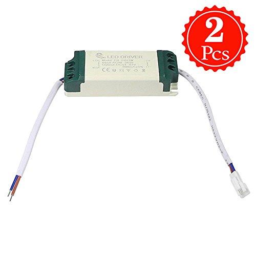 Preisvergleich Produktbild Granvoo 2-er Pack LD-010 18-24W AC 90-265V DC 54-87V Überspannungschutz Konstantstrom LED-Treiber Hochtemperaturbeständiger Kunststoff Für LED-Streifen-Licht Wand-Licht Downlight
