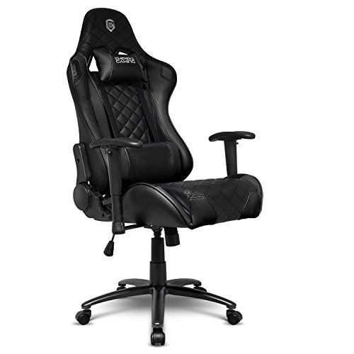EMPIRE GAMING - Chaise Gamer Racing 700 Series Noir Ergonomique et inclinable - Accoudoirs 2D réglables - Coussins lombaires et Nuque Inclus
