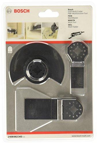 Bosch Professional 2608662343 2 608 662 343 Universal-Set für Multi-Cutter 3-teilig