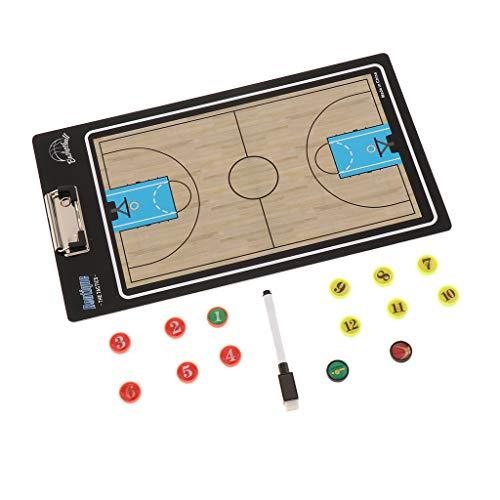 IPOTCH Basketball Magnetische Taktik Board Coaching Board Trainer Taktikbrett und Magnettafel - Basketball (Basketball Coaching-board)