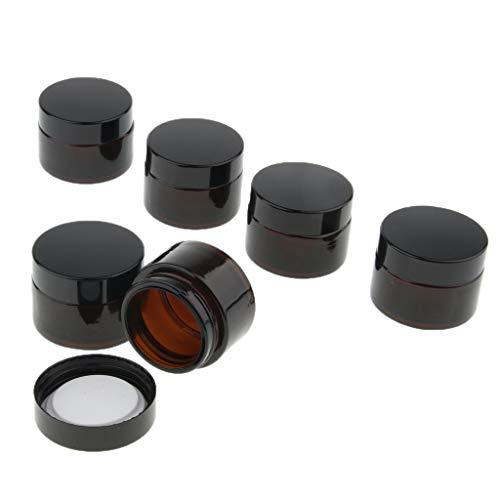 Baoblaze 6x Pots de Cosmétiques Ronds Contenants Récipients Crème en Verre - 30g