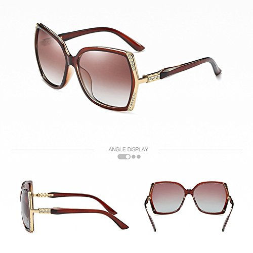 GHFDSJHSD Ms. Polarisierte Brille UV-Schutz Sonnenbrille Klassische Diamond Sonnenbrille, 014