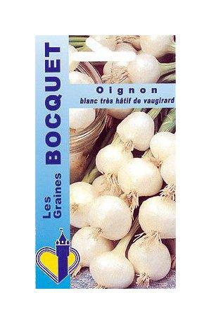 Les Graines Bocquet - Graines De Oignon Blanc Très Hâtif De Vaugirard - Graines Potagères À Semer - Sachet De 4Grammes