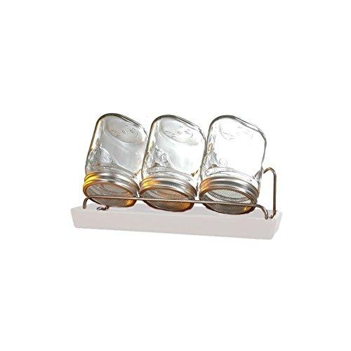 Germinador de cristal Eschenfelder- 3 x 0,75 litros soporte y escurridor