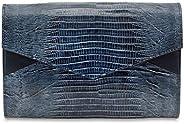 YOUBAG Maia S - handgefertigte Designer Abendtasche für Damen aus italienischem Leder, Clutch oder Schultertas