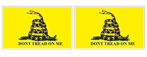 Don't Tread On Me Gadsden Flag Fahne USA US Amerika Molon Labe Schlange Aufkleber Sticker Decal Autocollants Pegatinas / Plus Schlüsselringanhänger aus Kokosnuss-Schale / Auto Motorrad Laptop Notebook Koffer Snowboard Motorsport Tuning Racing Hoonigan - Motorrad Honda Fahne
