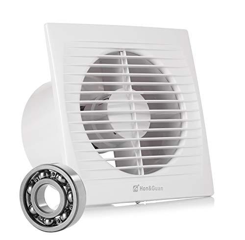 Inline-Lüfter, Hon&Guan Ø150 mm Abluftventilator Ultra-leise mit Effiziente Belüftung, Wand-Ventilator für Küche/Badezimmer / Schlafzimmer/Büro (C-150mm)