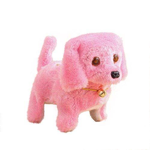Neues Roboter-nettes elektronisches gehendes Haustier Hund Welpe Kinder Spielzeug mit Musik Licht (Pink) (Mit Hund Licht Spielzeug)