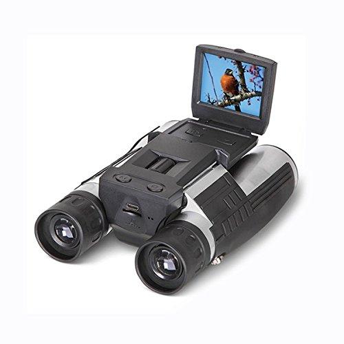 Binocular Cámara Digital 2 FHD 12x32, SGODDE Prismáticos 5MP Cámara Video de la Videocámara LCD HD 1080P, Ideal para Ver Oieseaux, Senderismo, Camping, etc.