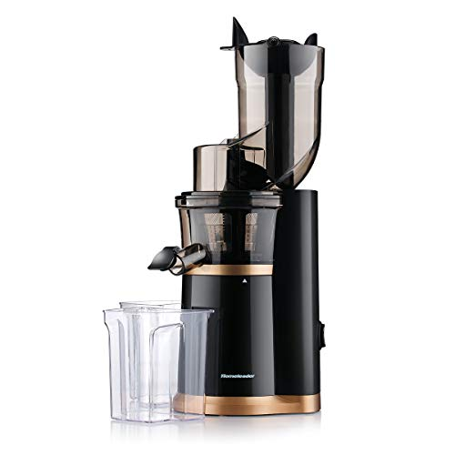 Masticating Slow Juicer, Juice Extractor for Home, 3.5inch Wide Chute Juicer, Cold Press Juicer Machine with Reverse Function, High Nutrient Vitamins for Fruits and Veggies
