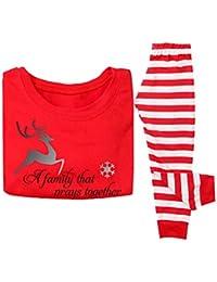 WEIMEITE Conjunto de Pijamas de NaviPapá a Juego de NaviPapá Mujeres Hombres Bebé Niños Familia Pijamas de Rayas Ropa de niños Conjunto