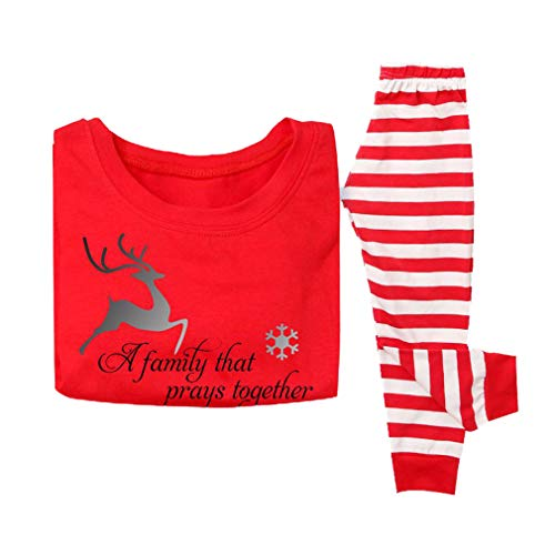 MEIHAOWEI Navidad Familia Pijamas Padre Madre Hija Hijo Ropa a Juego Familia Navidad Pijamas Set Familia Ropa Conjuntos Kid 120