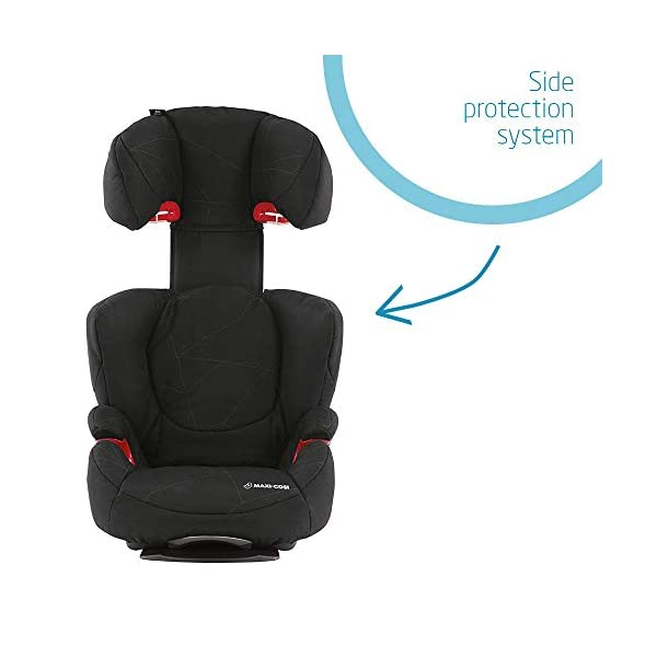 Maxi-Cosi Rodi Air Protect Car Seat, Group 2/3, Black Diamond Maxi-Cosi Forward facing group 2/3 car seat suitable for children from 15 to 36 kg (approx. 3.5 to 12 years) Patented airprotect side impact technology integrated into headrest, protects child's head in case of collision Retractable isofix connectors lock the car seat to the body of the car, ensuring stability and ease of use [ ISOFIX not included ] 6