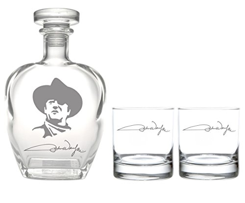 Rolf Glass John Wayne Zitat Serie 1 On The Rocks Glas John Wayne Signature Whiskey Decanter with On The Rocks Glass farblos - Signature Series Glass