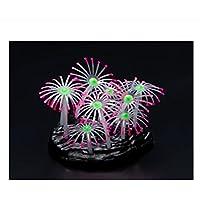BAOLIJIN Coral de Fluorescencia Artificial del Acuario del silicón para la decoración del Tanque de Pescados (Rosa) Fish Tank Ornament