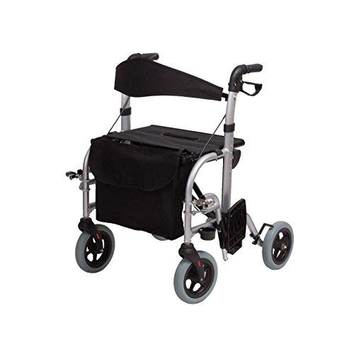 Aluminium 4 Rädern Rollator (Aluminium Rollator vier Rädern Doppelfunktion)