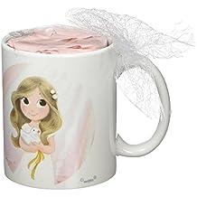 Mopec GD670.2 - Taza Primera Comunión de Porcelana para niña Adornada con Caramelos de