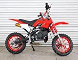 R JAG TOYS Kids Dirt Bike 49cc Engine with Cell-Start (Red)