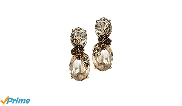 cccf2504baf662 Buy Nine Vice Gold Plated Drop Earrings for Women (Gold