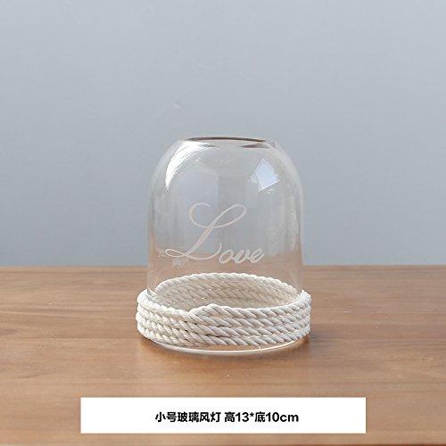 KIKIXI Nordic Kreative minimalistischen Glasabdeckung Kerzenständer Laternen home Dekoration Schmuck Candle-Light Dinner Geburtstag Hochzeit Requisiten, kleines Glas Laterne