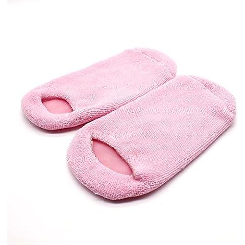 Manchester custodia un paio Beauty idrati Ammorbidire Riparazione Cracked Pelle Trattamento Idratante Spa calzini, colore: rosa