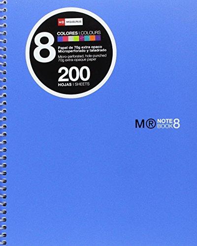 Basics Herr 43005-Notebook 8Farben, A5, 200Blatt, horizontale Polypropylen, blau Farbe