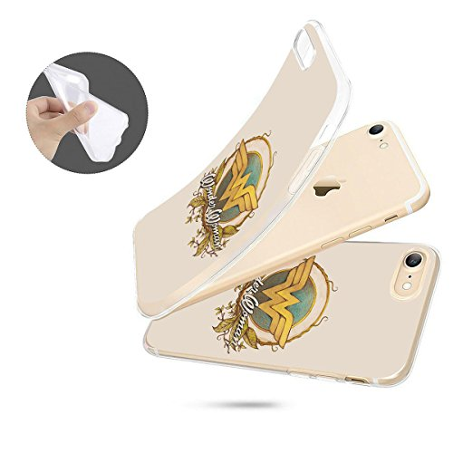 finoo | iPhone 8 Plus Weiche flexible Silikon-Handy-Hülle | Transparente TPU Cover Schale mit Motiv | Tasche Case Etui mit Ultra Slim Rundum-schutz |Portrait Color smile Logo Vintage