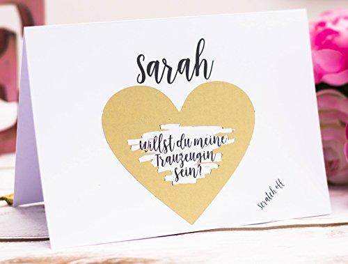 Preisvergleich Produktbild Karte Willst du meine Trauzeugin sein,  Rubbelkarte,  Hochzeit,  Hochzeitsgeschenk,  Personalisierte Geschenke 03