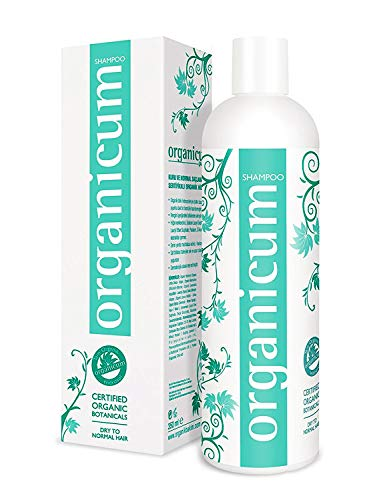 Organicum Shampoo 350ml végétalien avec complexe hydrosol pour le cuir chevelu sec, les pellicules et la perte de cheveux liée à la plante sans glycérine, silicones et alcool