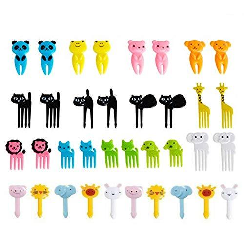 Juego de 36 tenedores para bebés, con diseño de animales de dibujos...