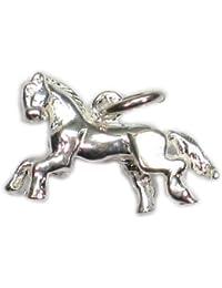 Caballo - poni de plata de ley 925 para pulsera. 1 x colgantes de caballos