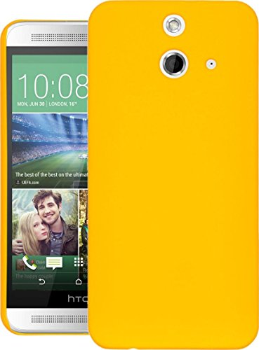 Cubix® One E8 Dual Sim Case, Super Slim Hard Back Cover for HTC One E8 Dual Sim Yellow  available at amazon for Rs.199