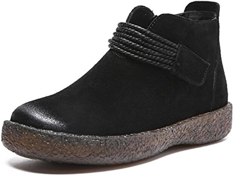 ZHZNVX HSXZ Scarpe donna Vacchetta Autunno Autunno Autunno Inverno Comfort avvioie scarpe tacco piatto Babbucce stivaletti di abbigliamento... | Alla Moda  | Scolaro/Signora Scarpa  c55c8b