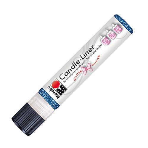 Marabu 180509594 - Candle Liner, 25 ml, glitter saphir