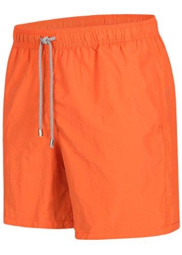 Herren Badeshorts - in vielen trendigen Farben - Badehose Bermudashort (XL, Orange)