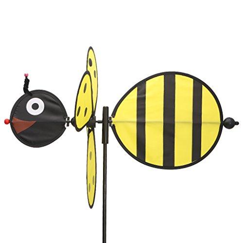 Senoow Large Bee Windmühle Windspiel Whirligig Wind Spinner Hausgarten Hof Dekor Kinder Kind Spielzeug, 19.69x13.78 Zoll (gelb) -