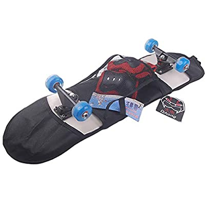Skateboard-Tasche, Tragbare Skateboard-Tragetasche Verstellbarer Schultergurt Reise-Longboard-Rucksack, Schwarz