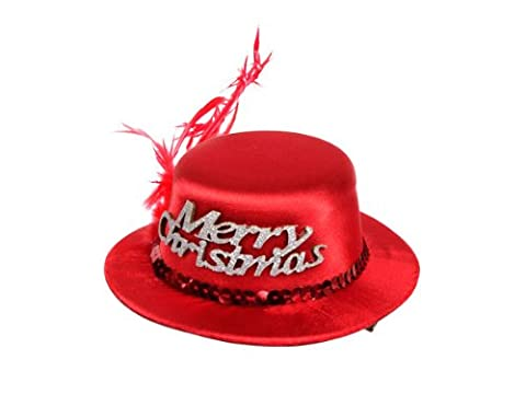 'Super mini chapeau de noel rouge avec 2 mini pince