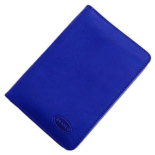 8.5 Leder (Branco Leder Ausweisetui Ausweismappe Ausweishülle 8,5x12x1,5cm GB (Blau))