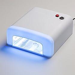 Lámpara de uñas Profesional para esmaltes permanentes y semipermanentes. Lámpara UV Ultravioleta 36W. Secador de uñas con temporizador para manicura de gel shellac.