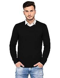 Armisto Plain Black Super Soft Men's Sweater