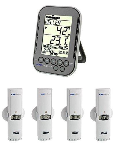 Galleria fotografica Chiese organo monitoraggio Klimalogg Pro Plus 30.3039.10.Plus antracite incl. 4 pezzi temperatura umidità trasmettitore 30.3180