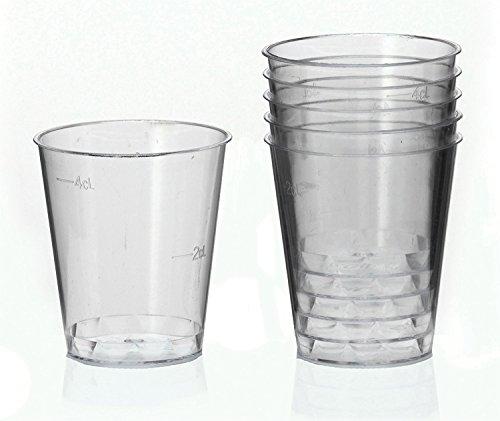 100 Schnapsgläser Plastik 2cl mit Eichstrich