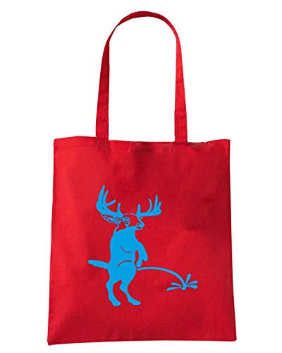 T-Shirtshock - Borsa Shopping FUN0885 buck pee on your custom text t2 Rosso