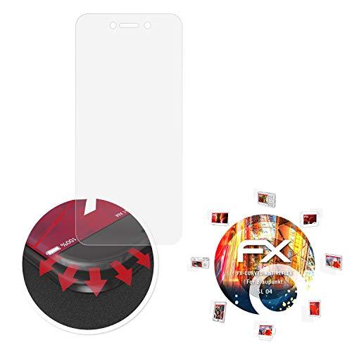 atFolix Schutzfolie passend für Blaupunkt SL 04 Folie, entspiegelnde & Flexible FX Bildschirmschutzfolie (3X)