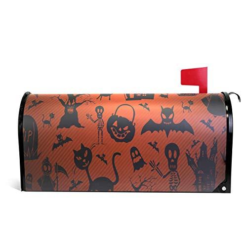 WOOR Halloween Katzen und Kürbis Magnetbriefkasten, Standardgröße, 45,7 x 52,1 cm 25.5x20.8 inch Oversized Multi ()