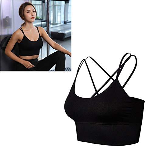 TENDYCOCO Sport-BH für Frauen Komfort Gepolstert Nahtlose High Impact Unterstützung für Yoga-Fitness-Workout Fitness - Schwarz S - 5