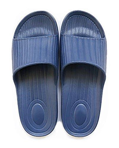 Schlupfhalsband Hausschuhe rutschfeste Dusche Sandalen House Mule Weiche Sohle steckschäume Pool Schuhe Badezimmer Slide für Erwachsene Dunkelblau